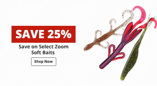 Save 25% On Select Zoom Soft Baits