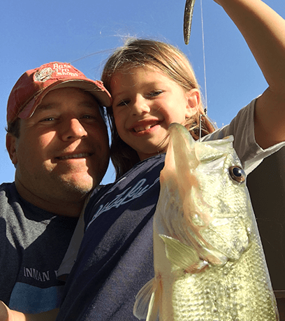 fishing with his girls
