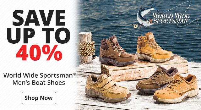 Save Up to 40% on World Wide Sportsman® Men's Boat Shoes