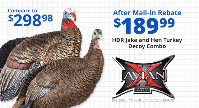 Avian-X HDR Jake and Hen Turkey Decoy Combo - Shop Now