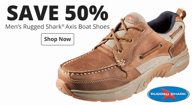 Save 50% Rugged Shark® Axis Boat Shoes for Men