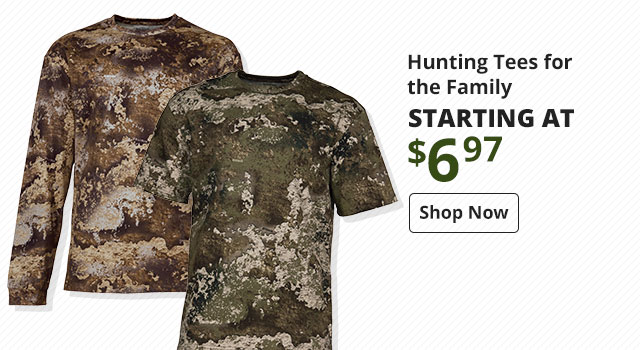 RedHead True Fit Long & Short Sleeve Camo T-Shirts for the Family