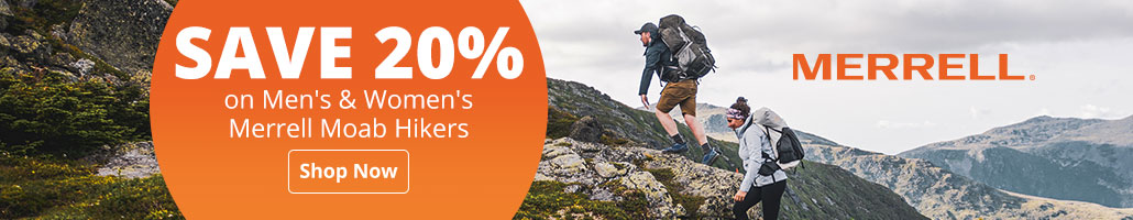 Save 20% on Men's & Women's Merrell Moab Hikers