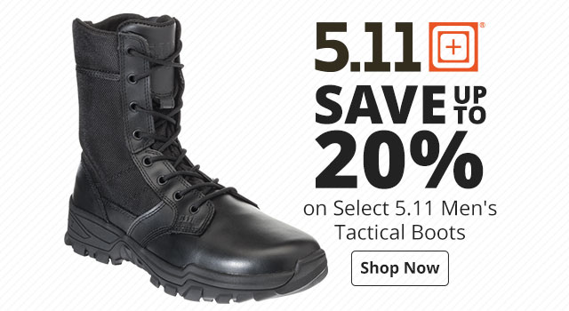 Save up to 20% on select 5.11 Men's Tactical boots