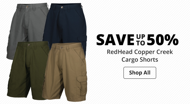 Save up to 50% RedHead Copper Creek Cargo Shorts - Shop Now