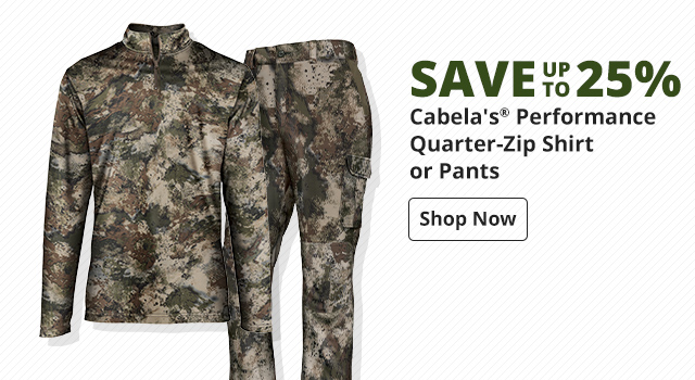 Save 30% NEW Cabela's® Performance Long- or Short-Sleeve T-Shirt - Shop Now