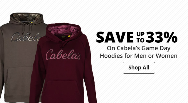 Save 33% on Cabela's Game Day Hoodies for Men or Women - Shop Now