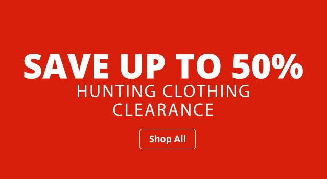 Save up to 50% Hunting Clothing Clearance