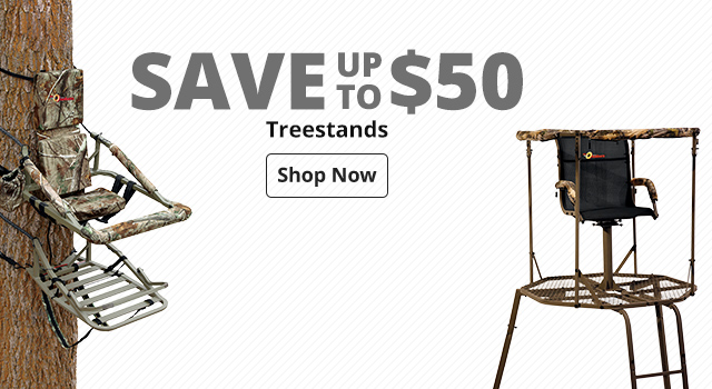 Save up to $50 Treestands