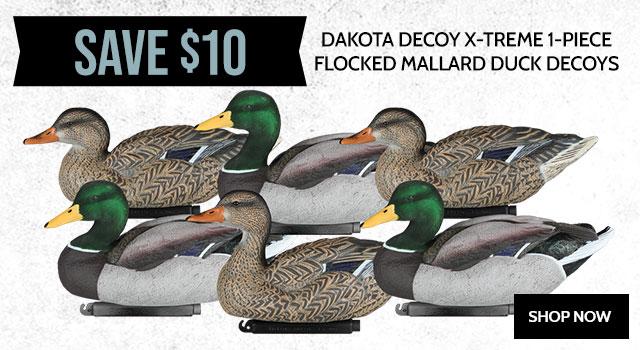Dakota Decoy X-Treme 1-Piece Flocked Mallard Duck Decoys