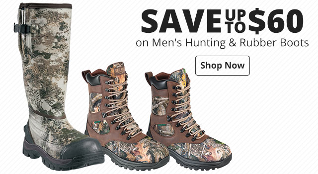 Save up to $55 on Men's & Women's Hunting Boots