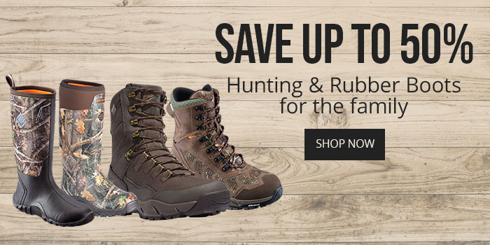 Save up to $50 on Hunting & Rubber Boots for the family