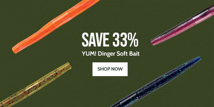 Save 33% on Yum Dinger Soft Bait