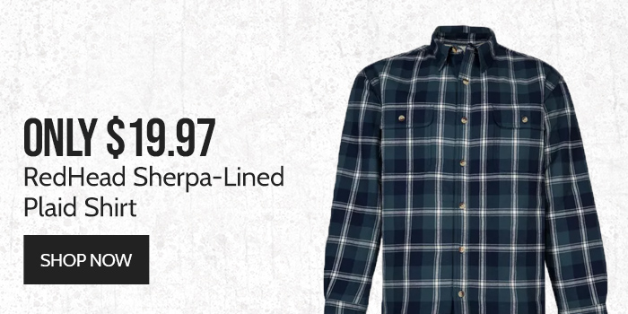 Only $19.97 RedHead Sherpa-Lined Plaid Shirt