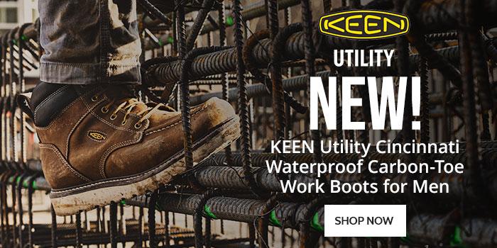 New! KEEN Utility Cincinnati Waterproof Carbon-Toe Work Boots for Men