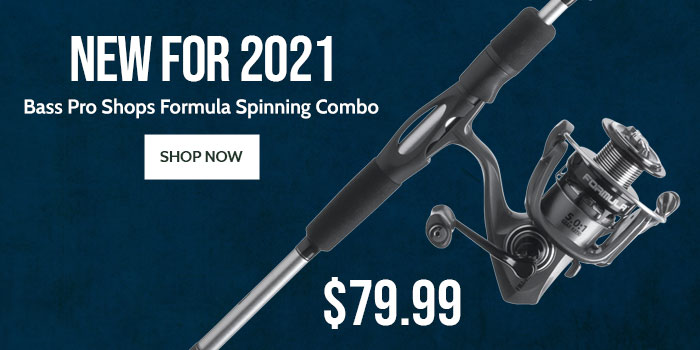 New For 2021! Bass Pro Shops Formula Spinning Combo