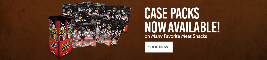 Case Packs Now Available on Many Favorite Meat Snacks