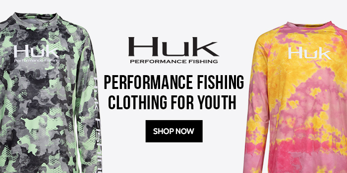 Huk Performance Fishing Clothing for Youth