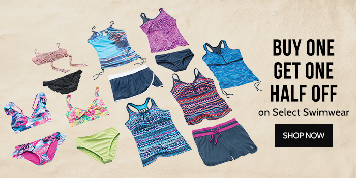 Buy One Get One Half Off on Select Swimwear