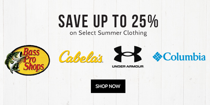 Save up to 25% on Select Summer Clothing