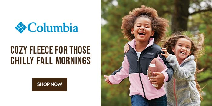 Columbia Cozy Fleece for those Chilly Fall Mornings