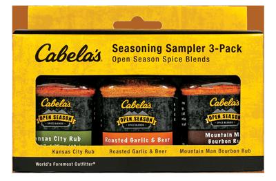 Cabela's Seasoning Sampler Pack