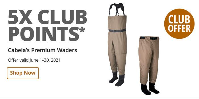 CLUB  4most 5x promo Cabela's premimum waders