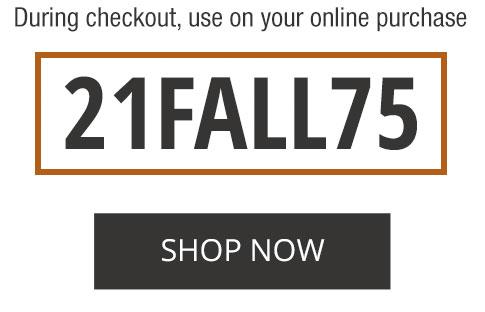 promocode 21FALL75