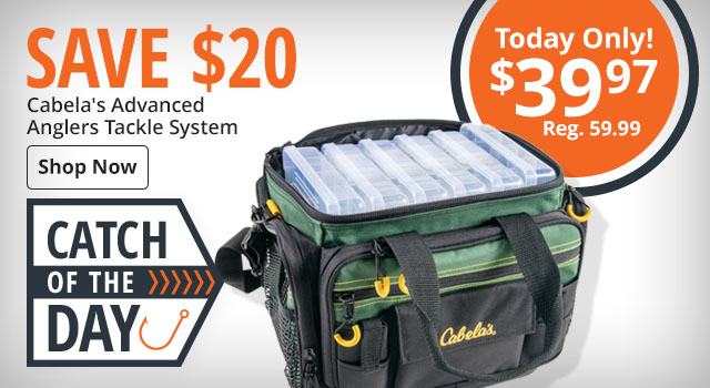 Save $20 on Cabela's Advanced Anglers Tackle System - Shop Now
