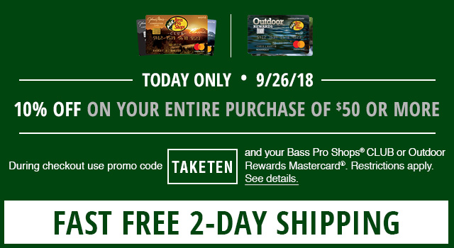 10% plus Free Shipping CLUB one day only