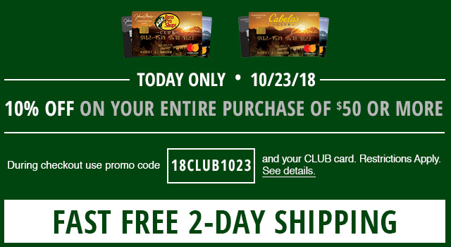 CLUB 10% off plus Free Shipping Oct 23