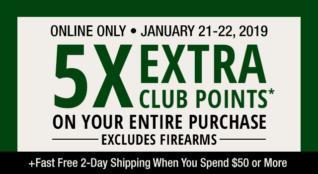 5X EXTRA CLUB POINTS two days only
