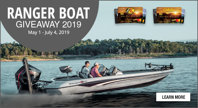 Ranger Boat Giveaway 2019, May 1 - July 4, 2019 - Learn More