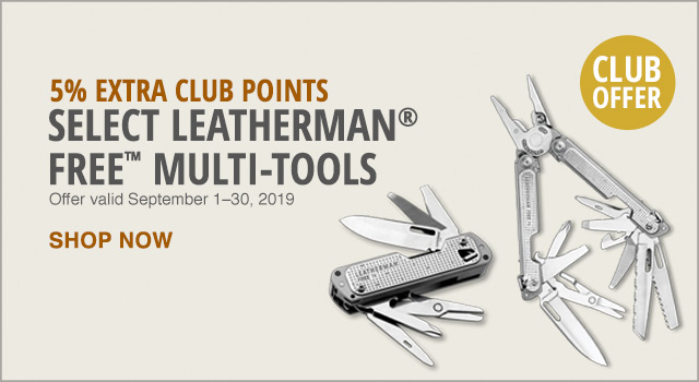 Select Leatherman free tools - Learn More