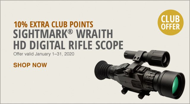 10% EXTRA CLUB POINTS - SIGHTMARK WRAITH HD DIGITAL RIFLE SCOPE - SHOP NOW