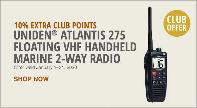10% EXTRA CLUB POINTS - UNIDEN ATLANTIS 2 WAY RADIO - SHOP NOW