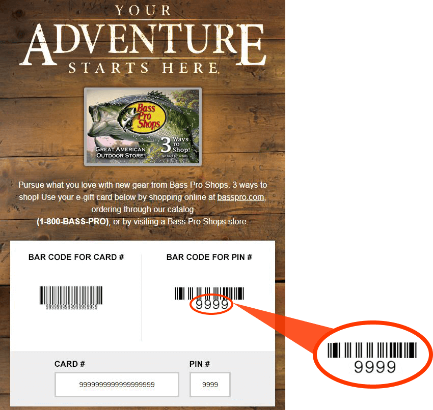 bass pro shop gift card balance shop gift cards bass pro shops 1576
