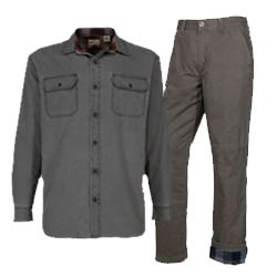 Save 25% RH men's Bear Creek Lined flannel-lined shirt or pants