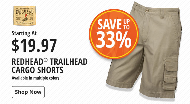 Save 33% on RedHead Trailhead Cargo Shorts - Shop Now