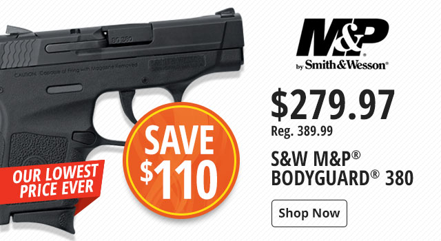 Save $110 on S&W M&P Bodyguard 380 - Shop Now