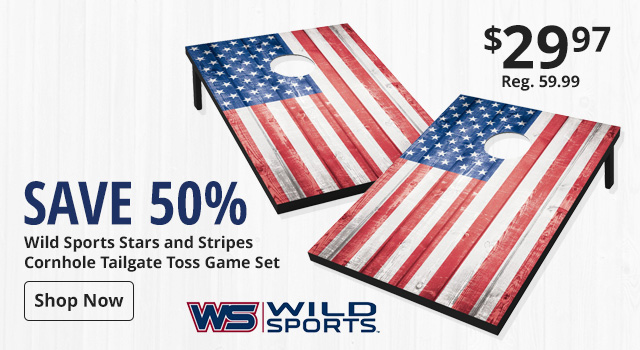 Save 50% on Wild Sports Cornhole Game Set