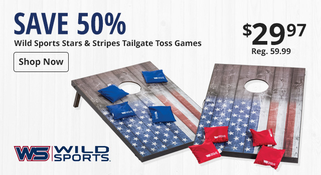 Save 50% on Wild Sports Tailgate Games
