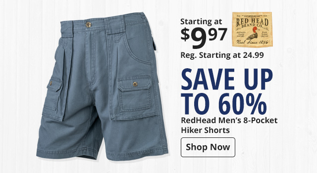 Save 60% on RedHead Hiker Shorts