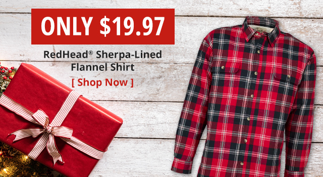 RedHead Sherpa-Lined Flannel Shirt
