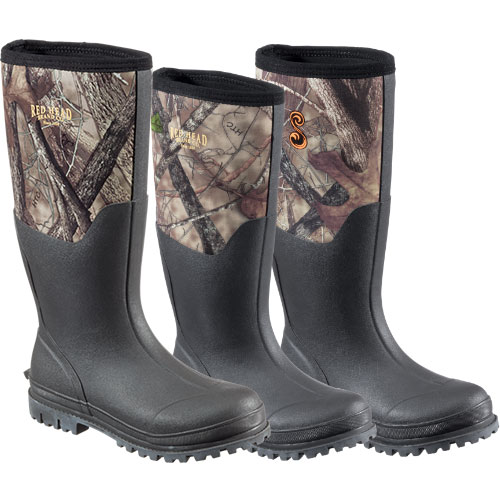 RedHead® Men's, Youth, or SHE Outdoor® Ladies' Camo Utility Rubber Bootse