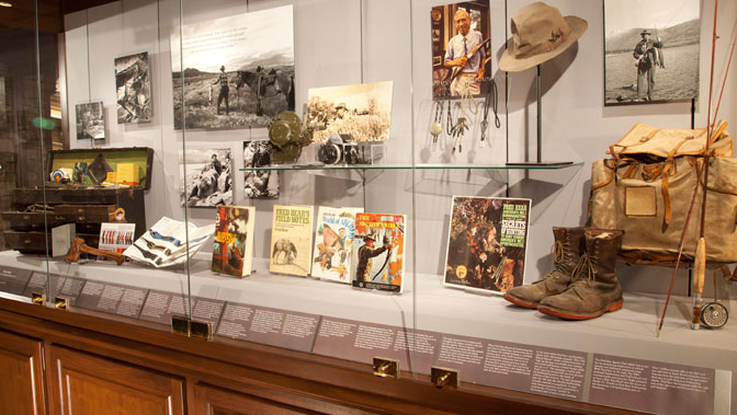 Fred Bear's display at the Archery Hall of Fame and Museum