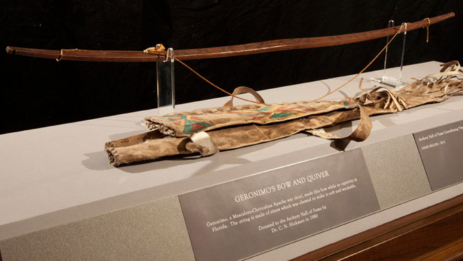 Geronimo's handmade bow and quiver