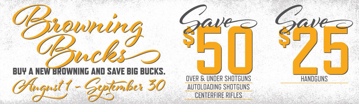 Buy A New Browning & Save Big Bucks