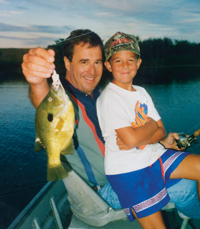 Johnny & JP Morris holding bluegill