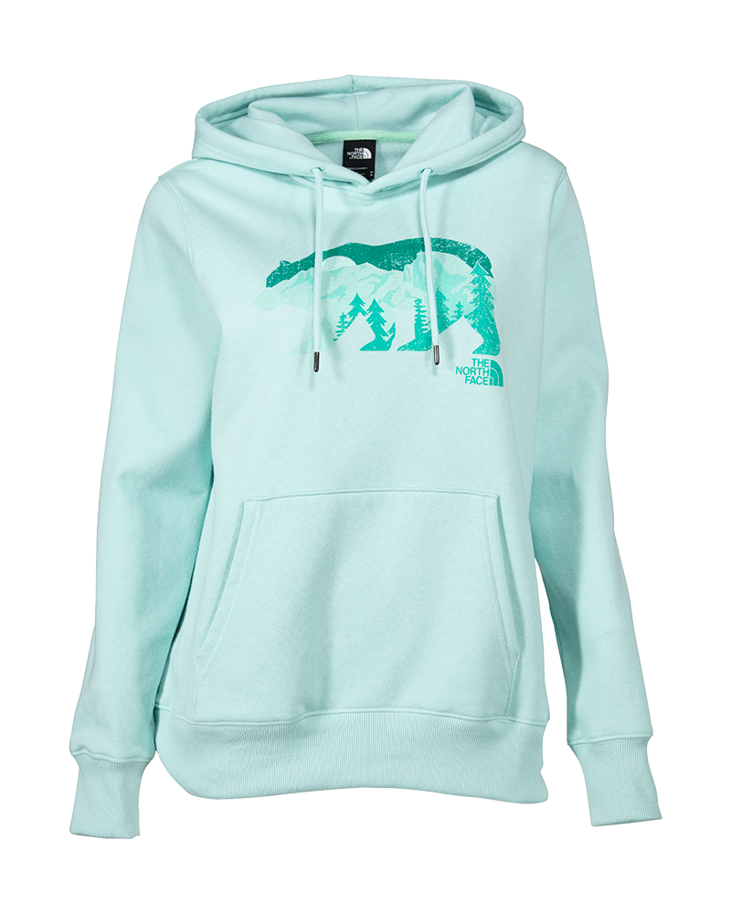 Bearscape Tri-Blend Pullover Hoodie in Coastal Green